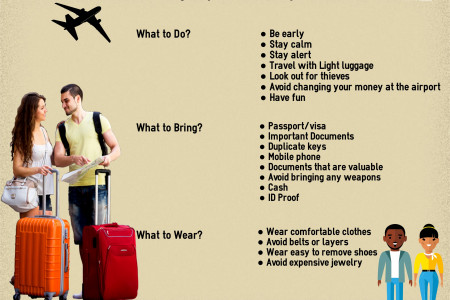 Amazing Airport Travel Tips Infographic