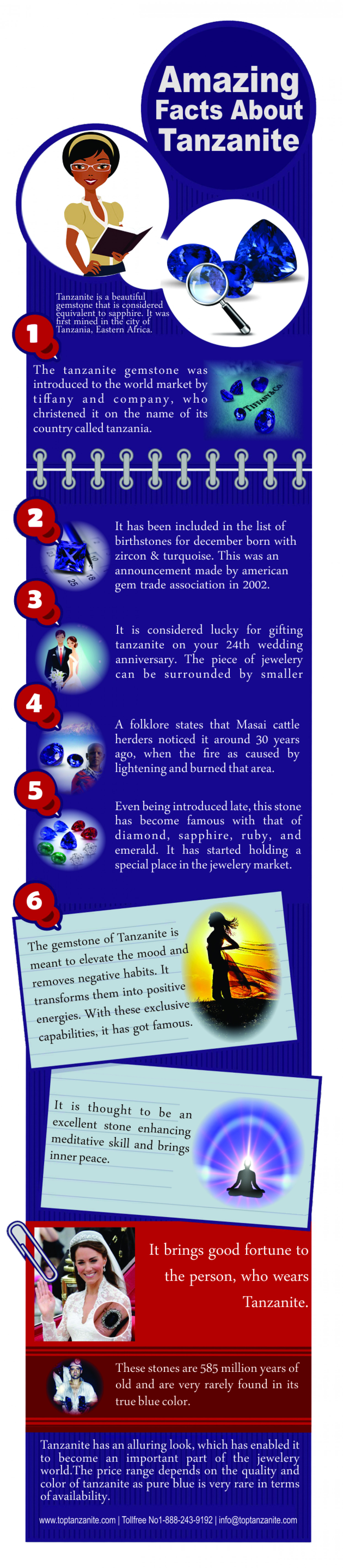 Amazing Facts About Tanzanite Infographic