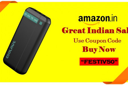 Amazon Great Indian Festival Sale Power Bank Coupon Code Infographic