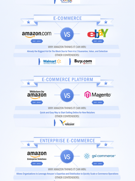 Amazon versus The World Infographic