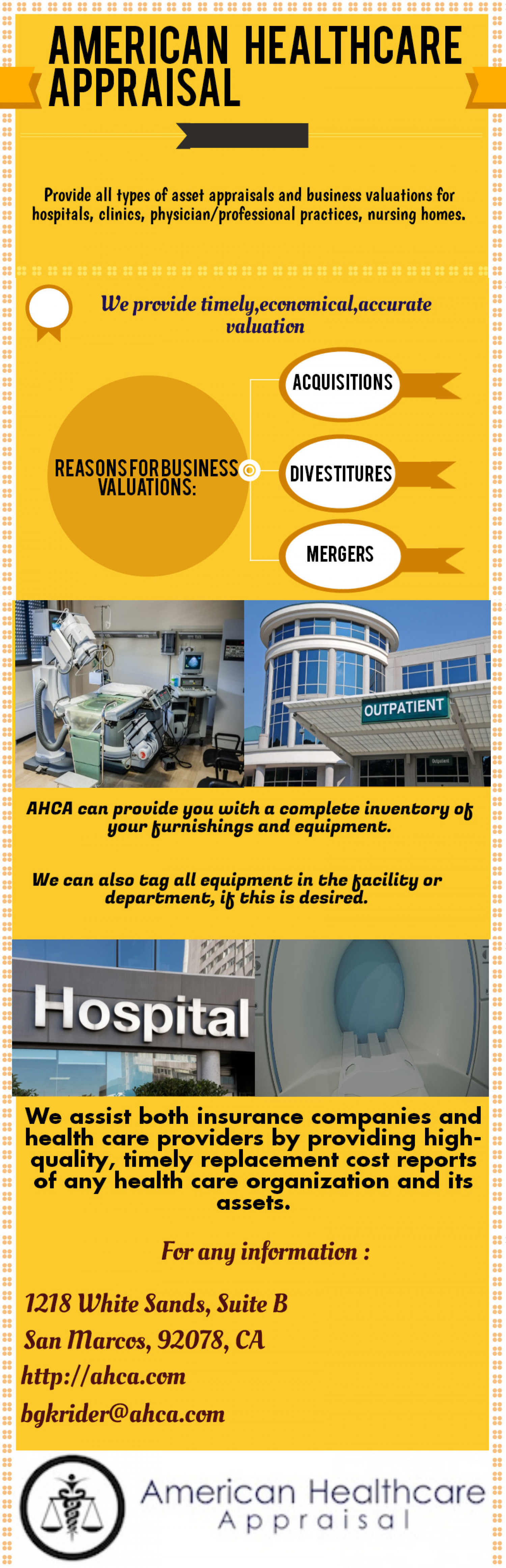 American Healthcare Appraisal Infographic