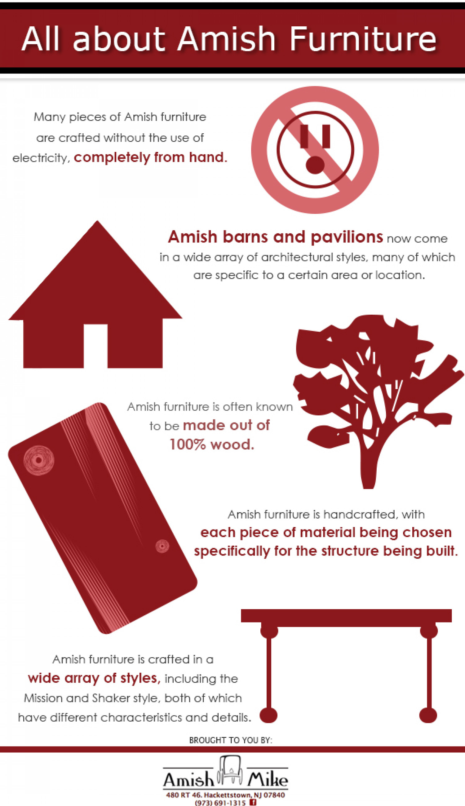 All About Amish Furniture Infographic