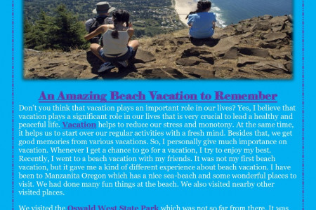 An Amazing Beach Vacation to Remember Infographic