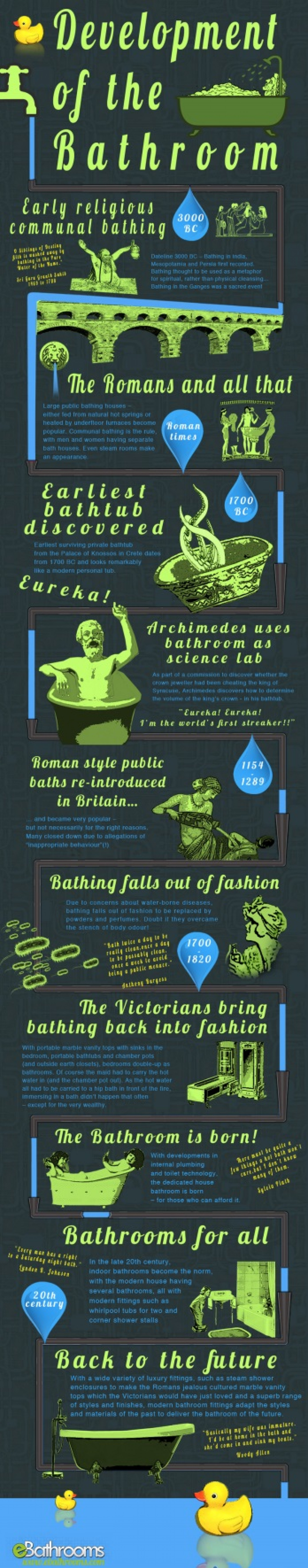Development of the Bathroom Infographic