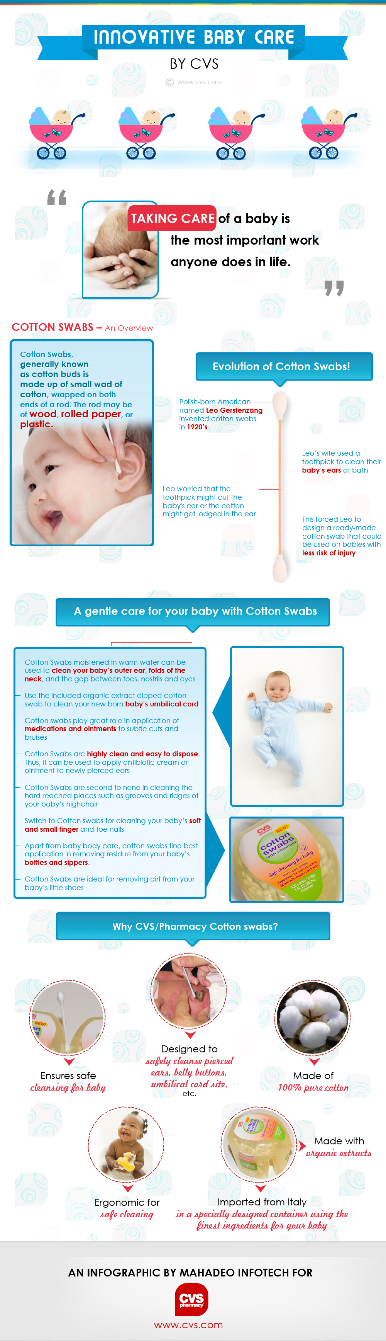 Innovative Baby Care Infographic