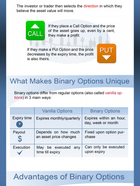 An introduction To Binary Options Infographic