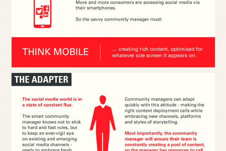 Anatomy and behaviours of the successful community manager of the future Infographic