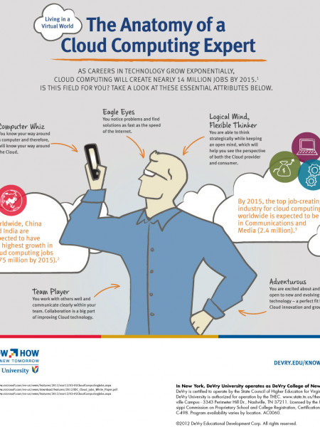 Anatomy of a Cloud Computing Expert  Infographic