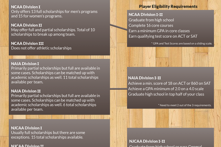 Anatomy of a College Basketball Scholarship Infographic