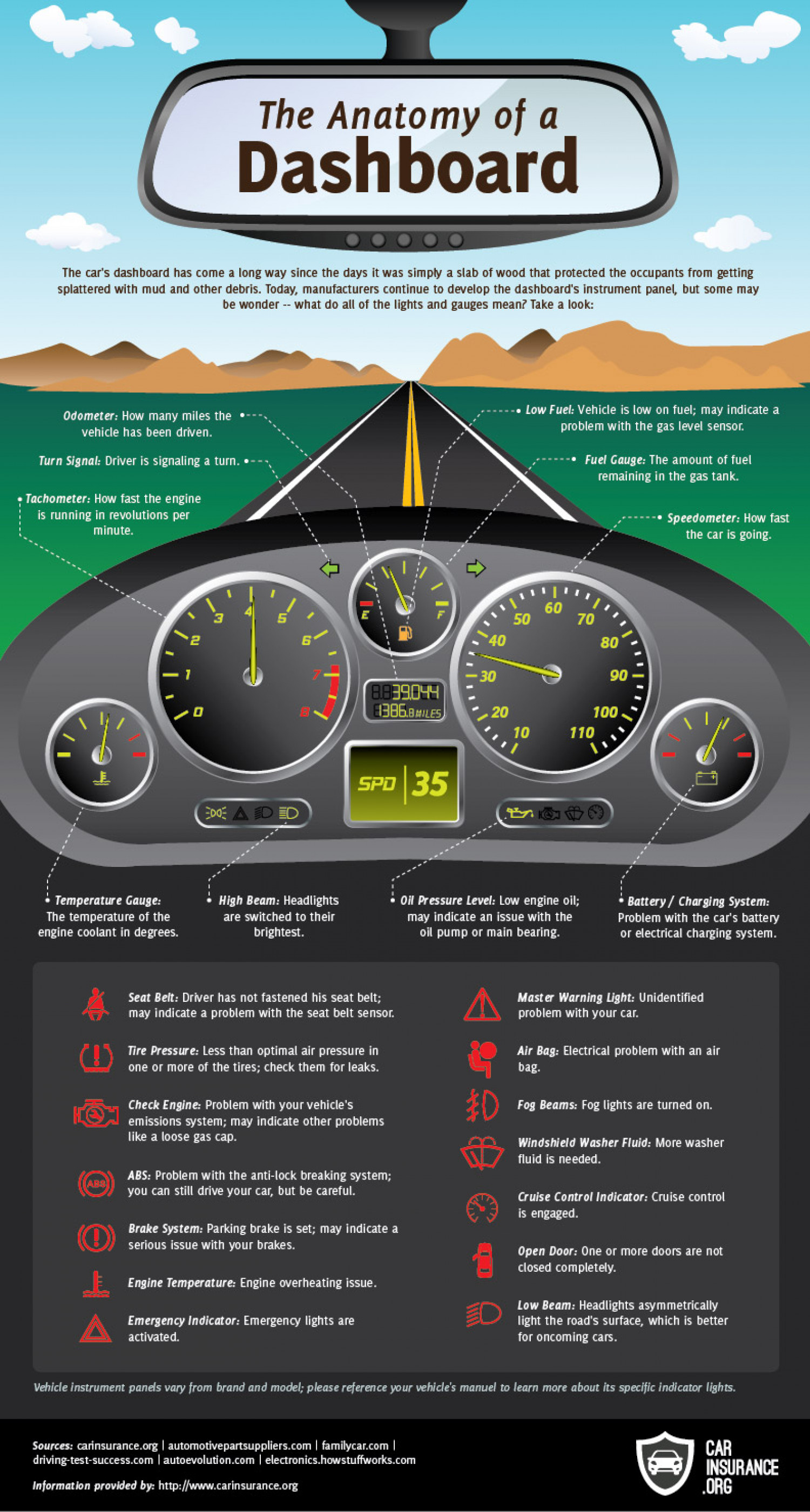Anatomy of a Dashboard Infographic