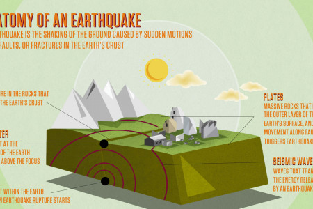 Anatomy Of An Earthquake Infographic