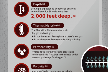 Anatomy of Marcellus Shale Infographic