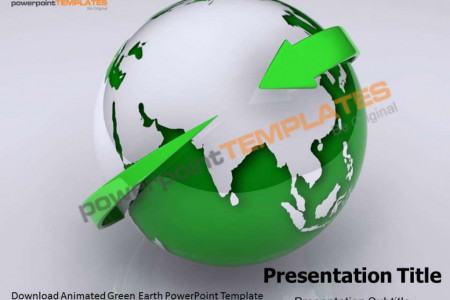 Animated Green Earth Powerpoint Template - templatesforpowerpoint.com Infographic