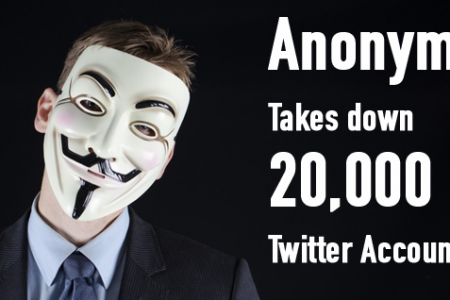 Anonymous Takes Down 20,000 ISIS Twitter Accounts Infographic