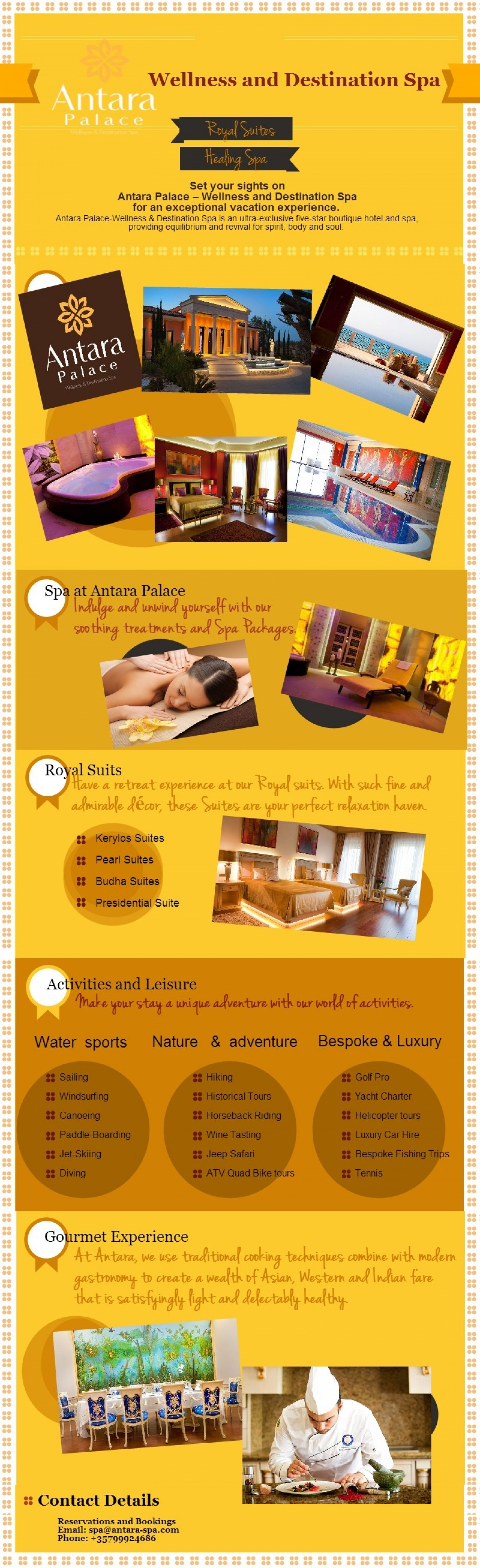 Antara Palace - Wellness and Destination Spa Infographic