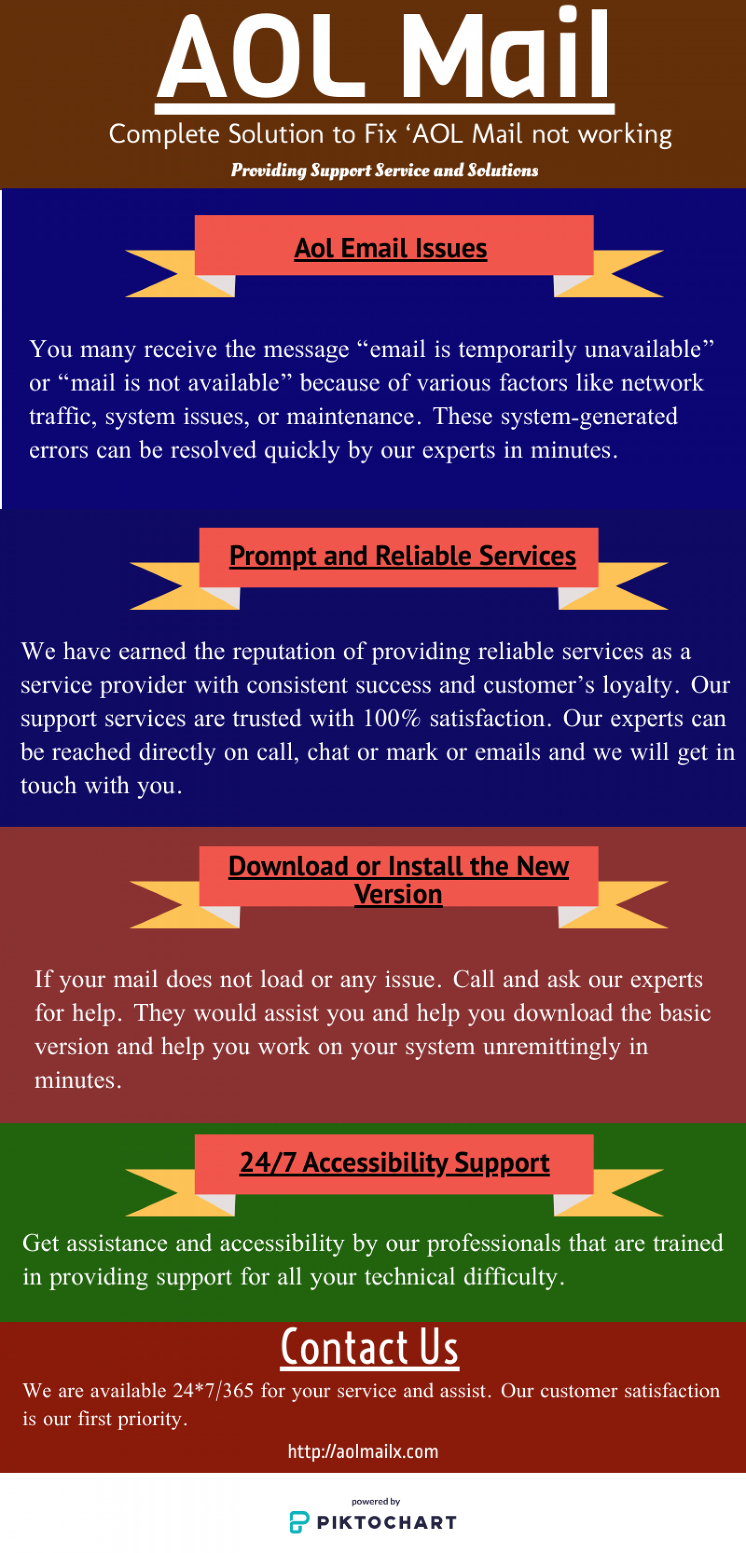 Aol Email Issues Infographic