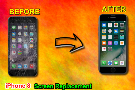Apple iPhone 8 Cracked LCD Screen Repair London  Infographic