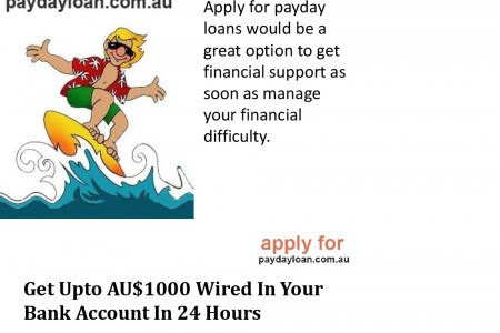 Apply For Payday Loan- An Option To Usual Advance Procedures  Infographic