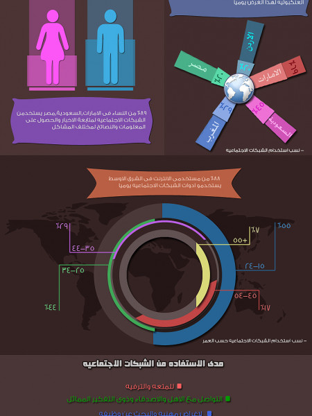 arab social-networking Infographic
