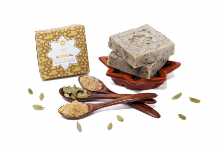 Arabic Coffee, Cardamom And Ginger Soap Infographic