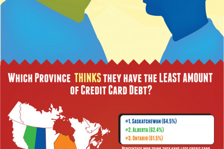 Are Canadians in Credit Card Debt Denial? Infographic