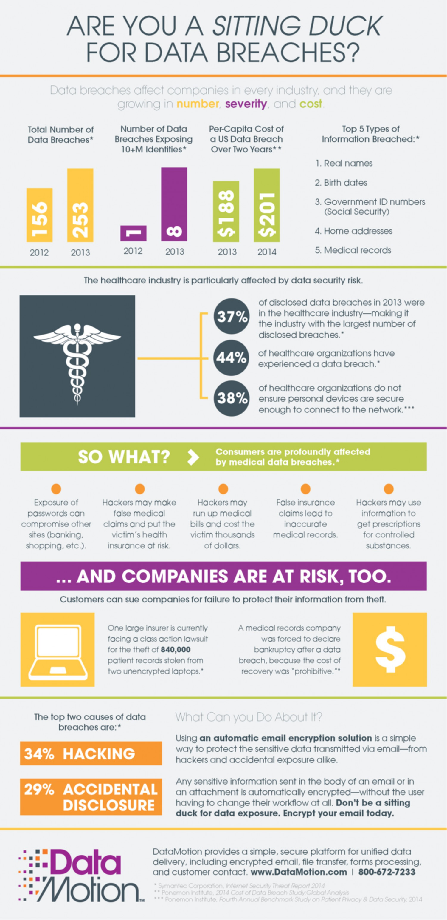 Are You a Sitting Duck for Data Breaches? Infographic