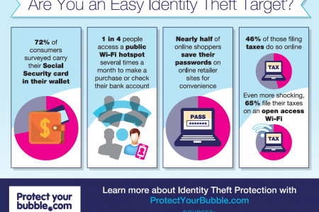 Are You an Easy Target for Identity Theft? Infographic