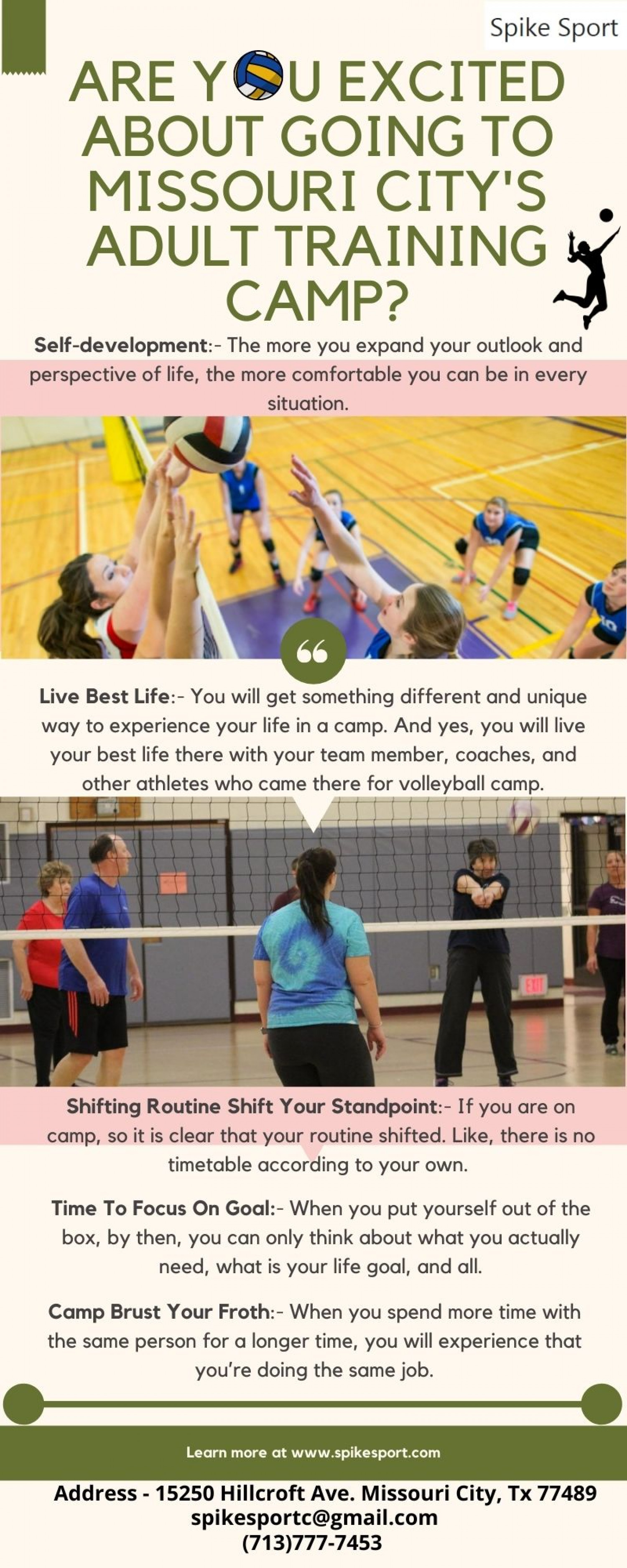 Are you Excited About Going to Missouri City's Adult Training Camp? Infographic