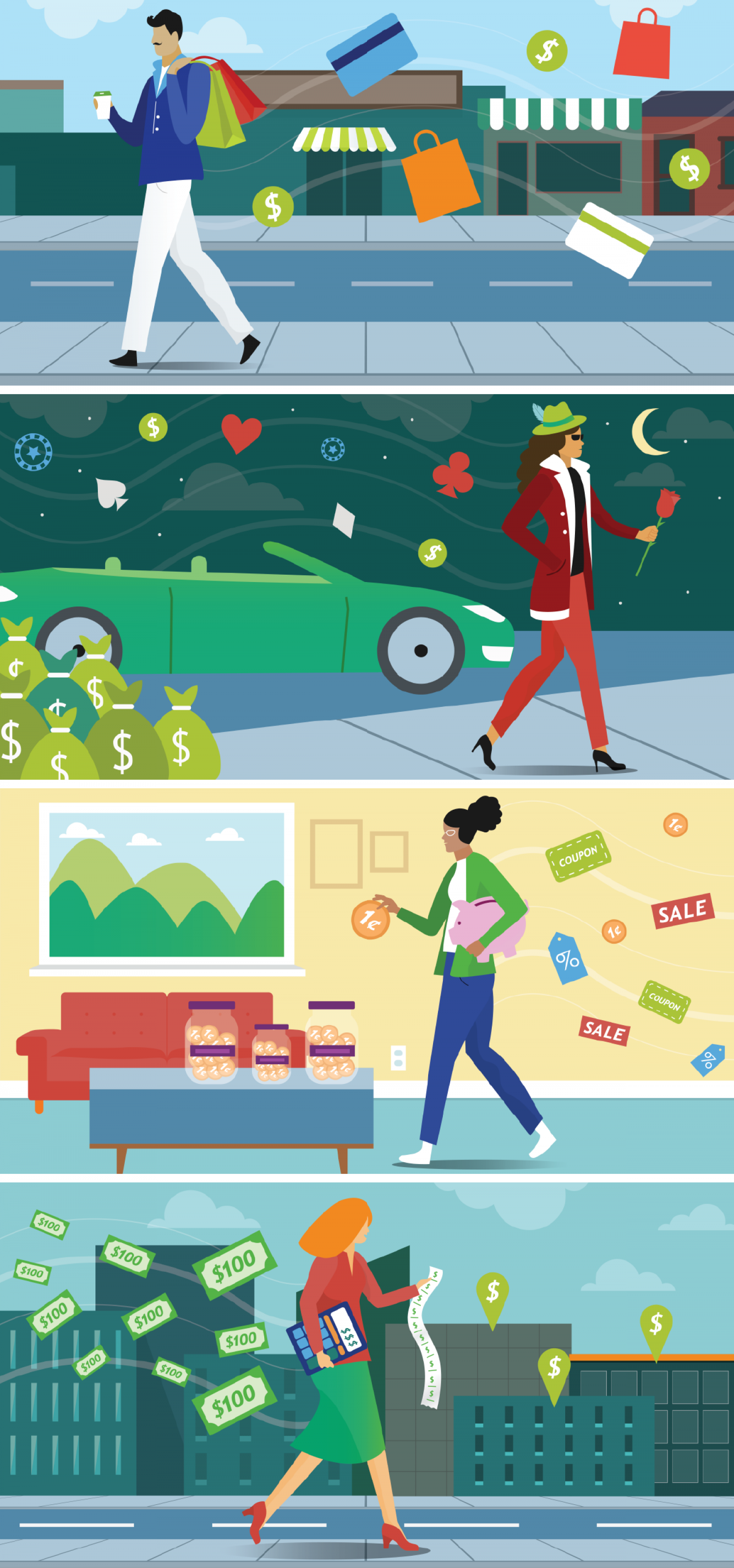 Are you extra or frugal? Infographic