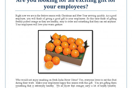 Are you looking for an exciting gift for your employees? Infographic