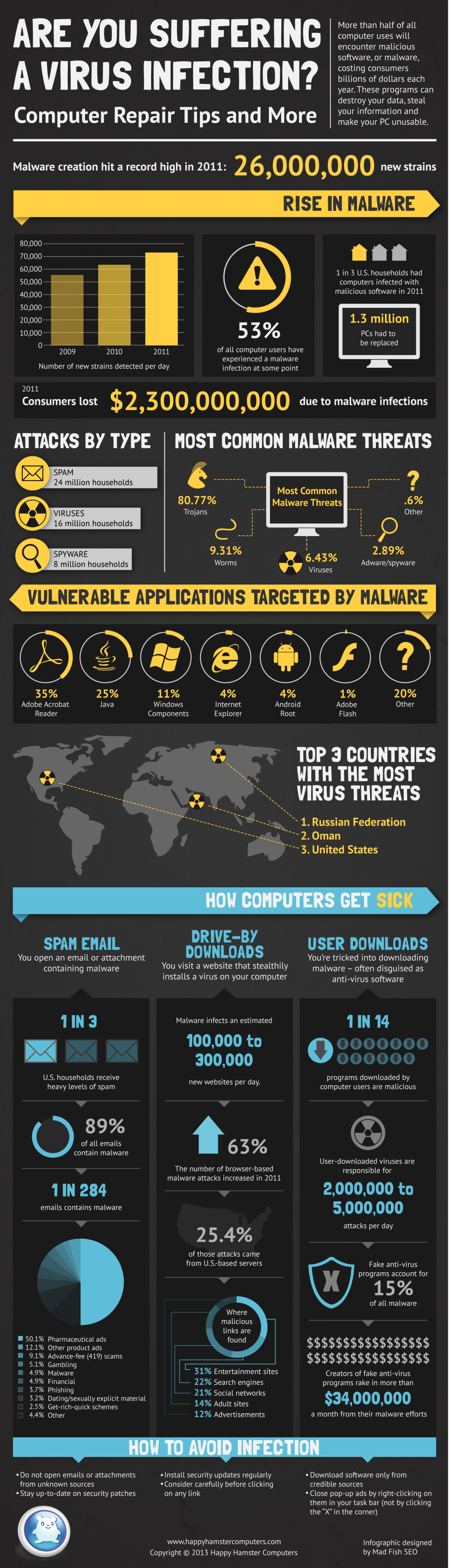 Are You Suffering a Virus Infection? Computer Repair Tips and More Infographic
