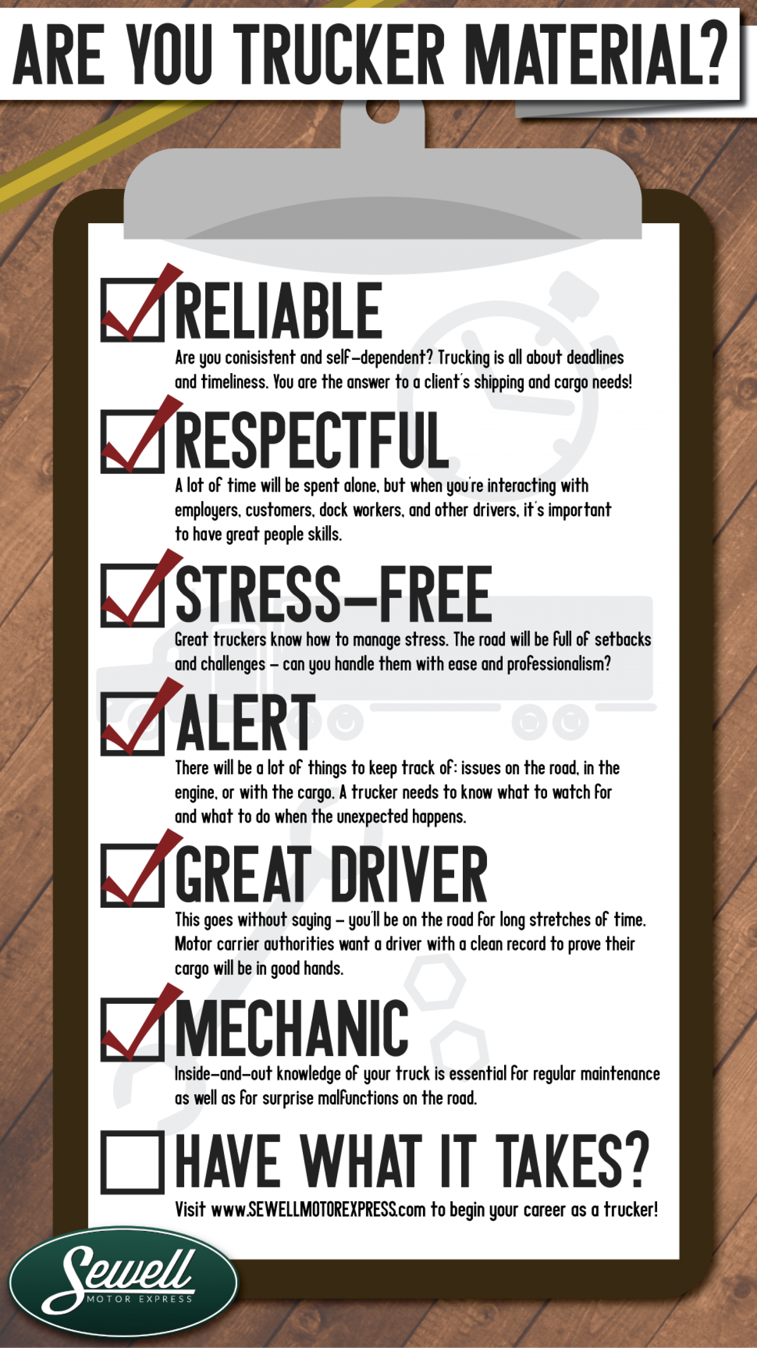 Are You Trucker Material? Infographic