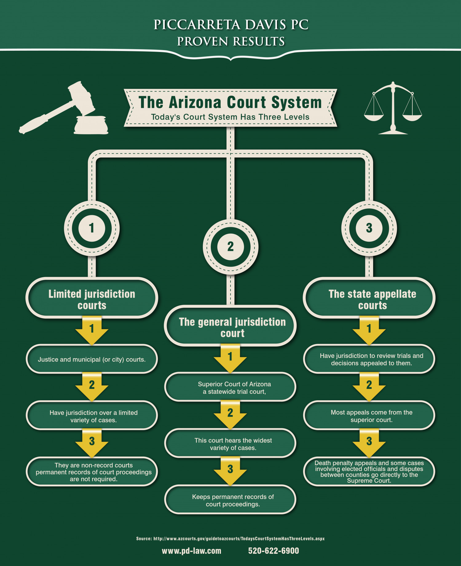 Arizona Court System Infographic