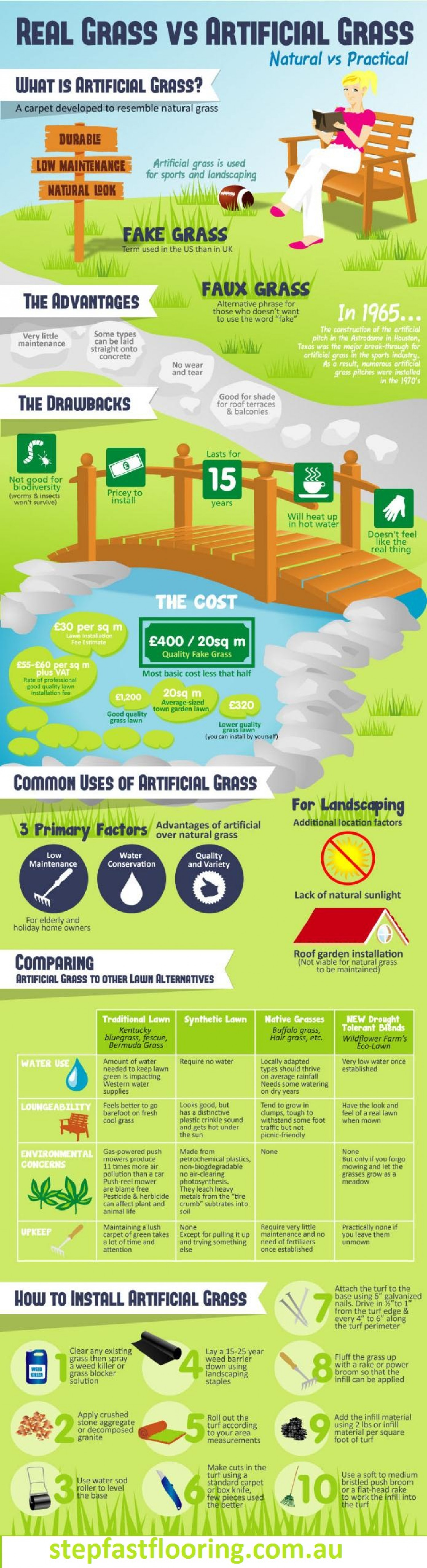 Real Grass Vs. Articial Grass Infographic