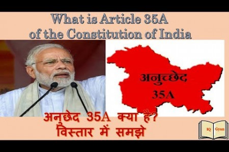 Article 35A of the Constitution of India Infographic