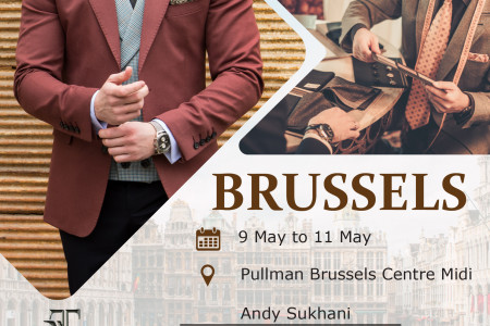 Ash Custom Tailor Brussels Tour May 2019 Infographic