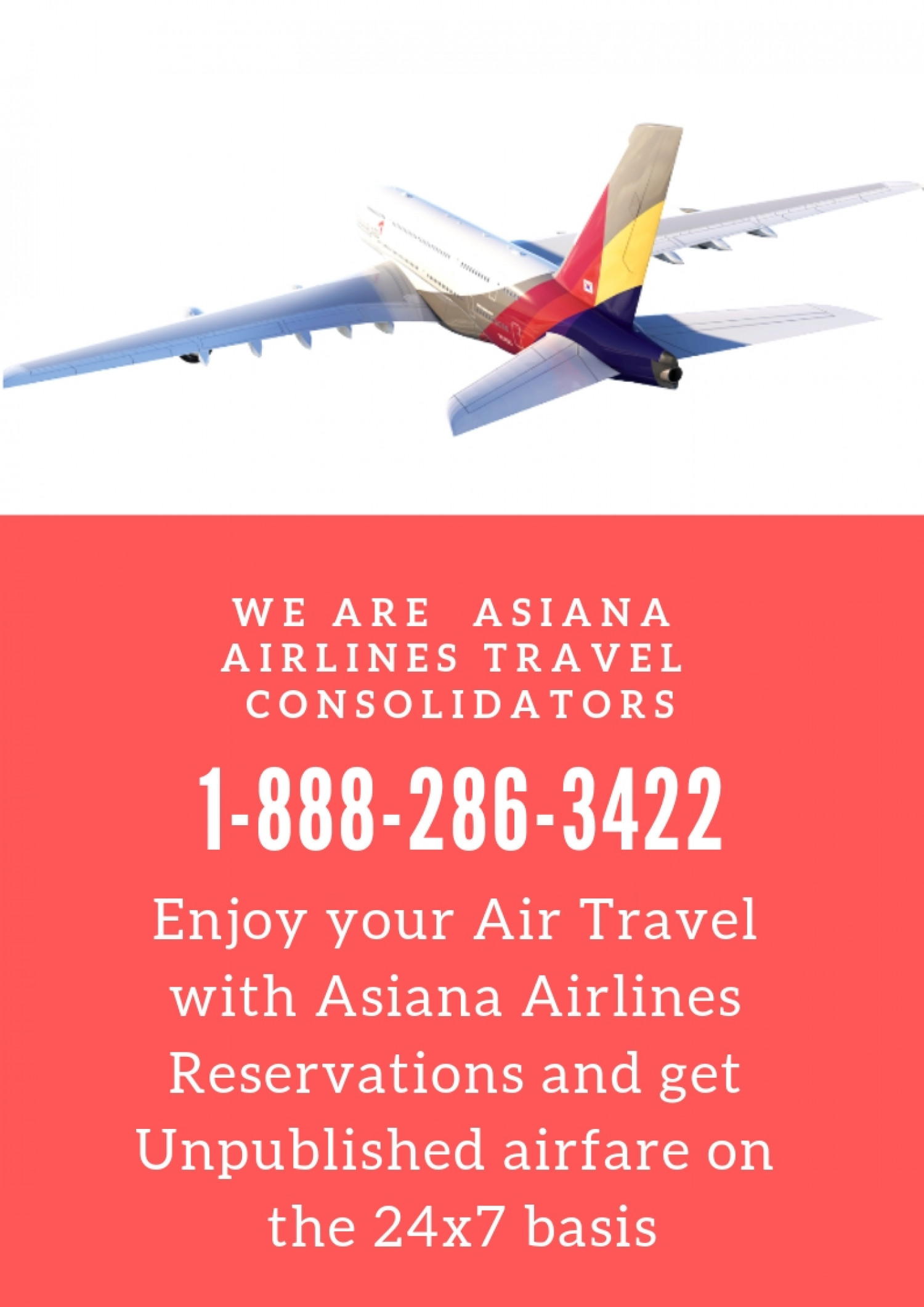 Asiana Airlines Online Reservations Phone Number Infographic
