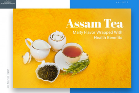 Assam Tea – Malty Flavor Wrapped With Health Benefits Infographic
