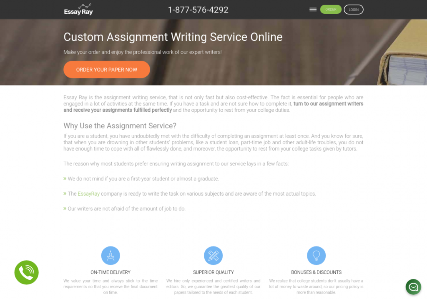 Assignment Writing Service Infographic