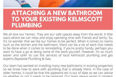 Attaching a New Bathroom to your Existing Kelmscott Plumbing Infographic