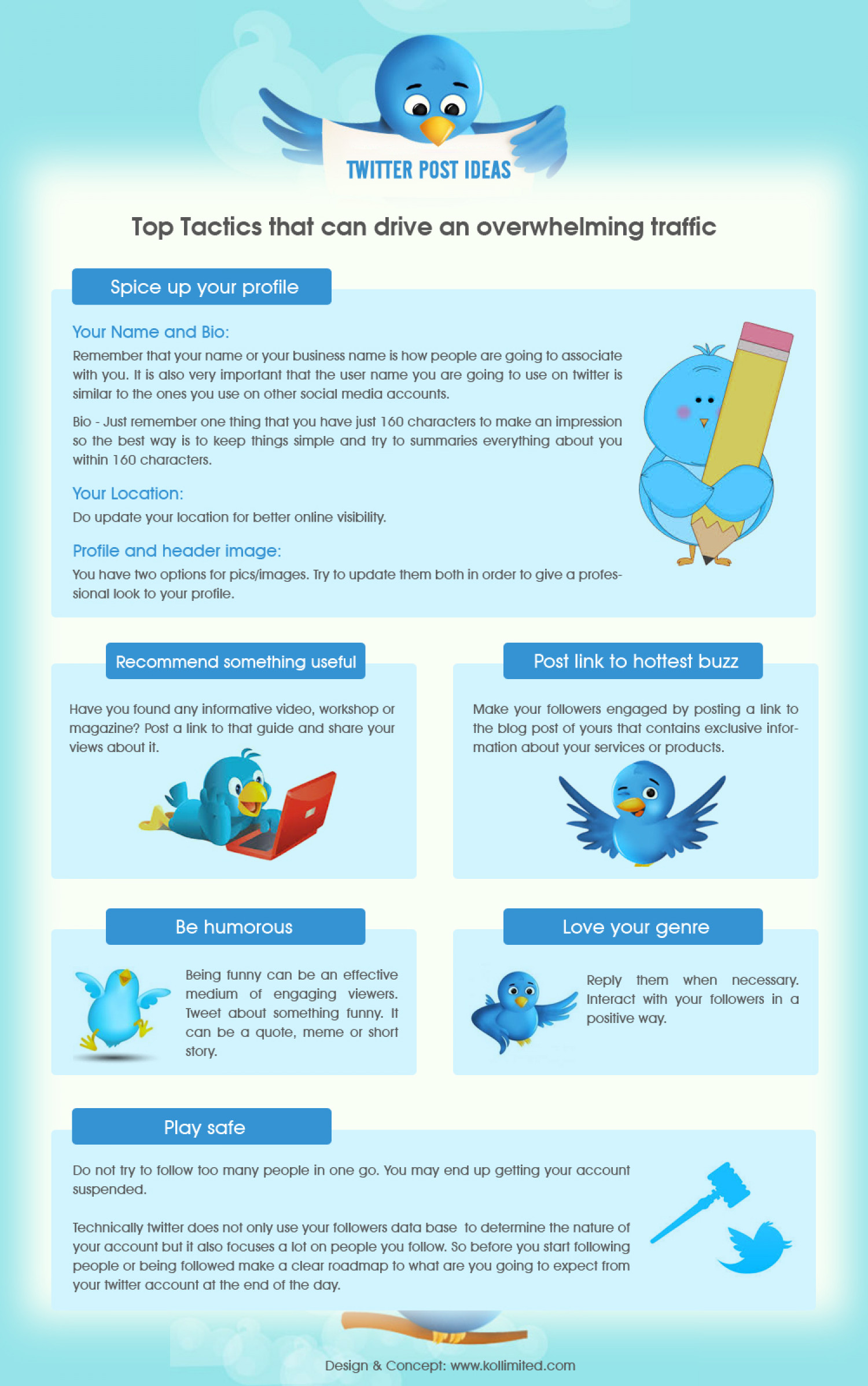 Attract visitors with these Twitter Post Ideas Infographic