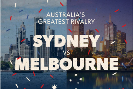 Australia's Greatest Rivalry: Sydney vs Melbourne Infographic
