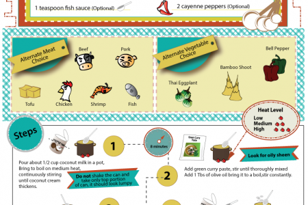 Authentic Thai Green Curry Recipe Infographic