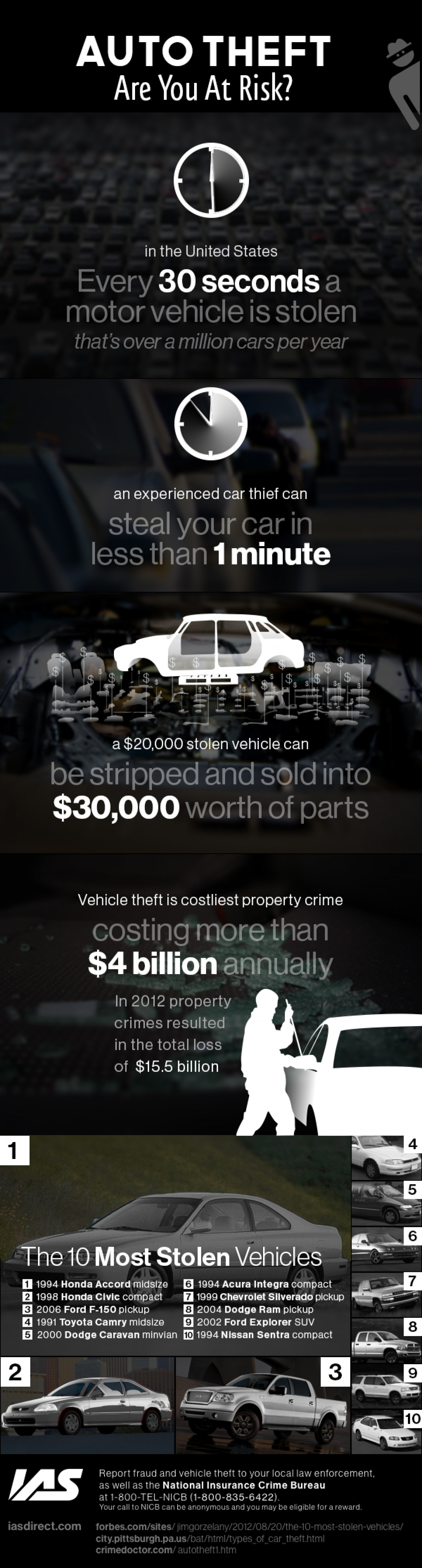 Auto Theft: Are You at Risk? Infographic