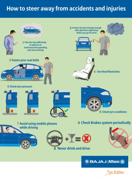 How to Steer Away From Accidents and Injuries Infographic