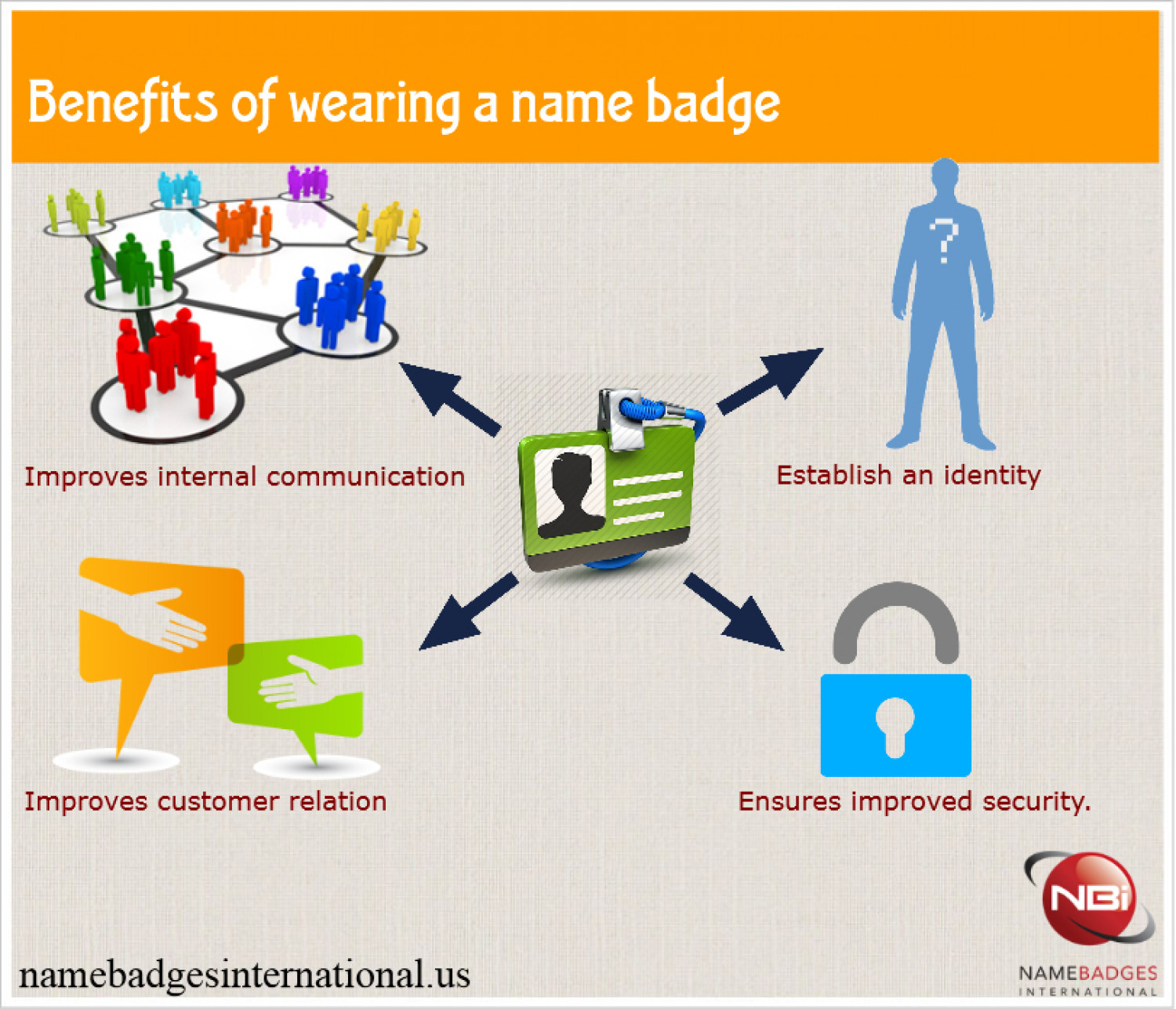 Avoid confusions with name tags Infographic