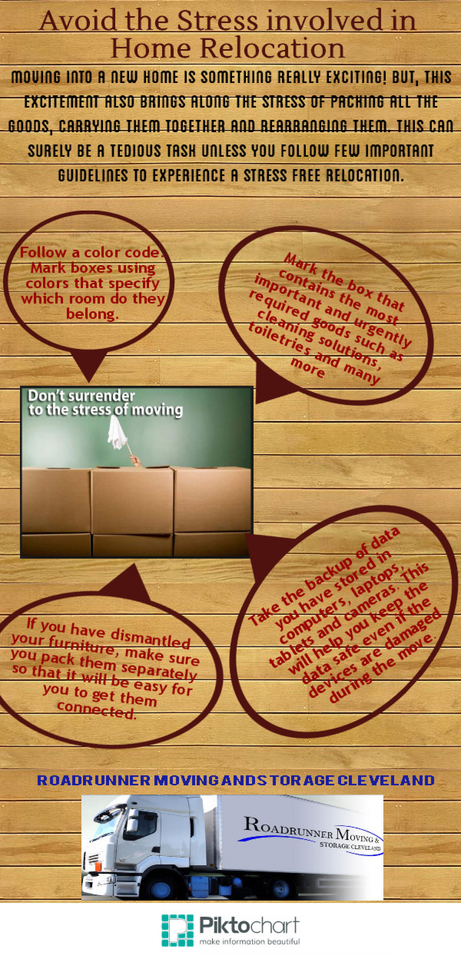 Avoid the Stress involved in Home Relocation Infographic