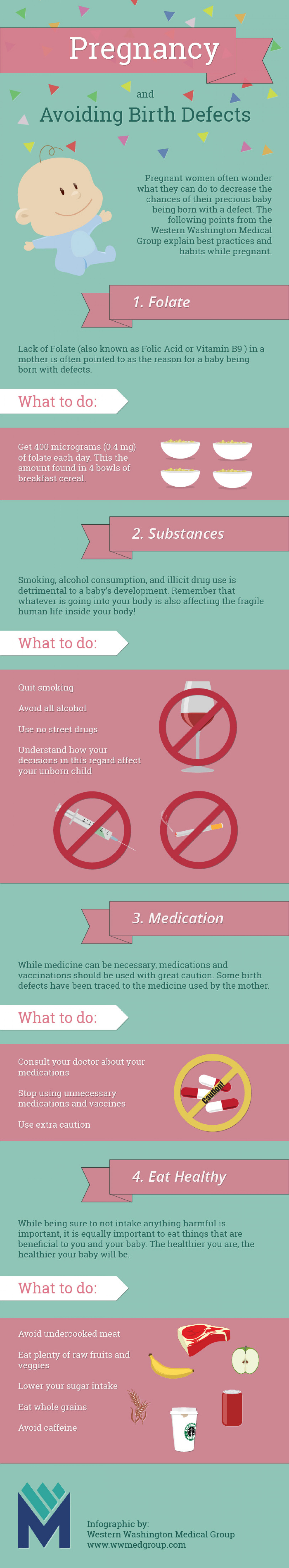 Pregnancy and Avoiding Birth Defects  Infographic