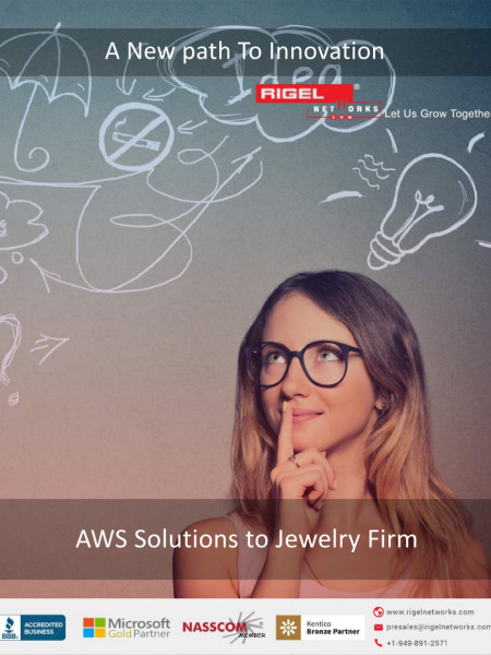 AWS Solutions to Jewelry Firm Infographic