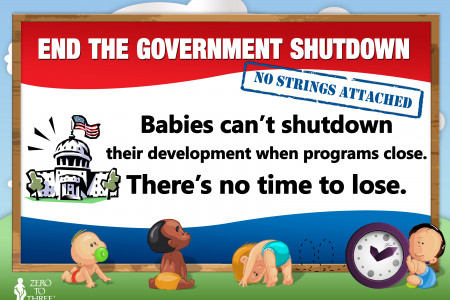 Babies can't shutdown their development Infographic